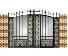 Современные кованые ворота и заборы фото эскизы